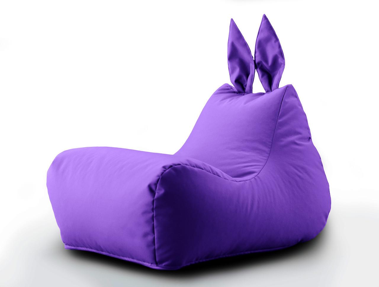 """Кресло мешок, груша """"Зайка"""" с ушками. Оксфорд. 70*50*45 см. С дополнительным чехлом"""