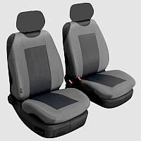 Майка на сиденье Premium Space Grey перед комп. 2 шт + вставки, без подголов.