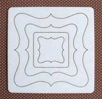 Чипборд (высечка) Albinos Рамочки №1 набор (от3*3 до 9,5*9,5см) АЛБ-000090