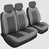 Майка на сиденье Premium Space Grey перед комп. (2+1) шт + вставки (B), без подголов.