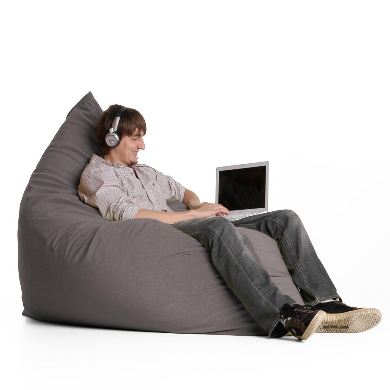 """Кресло-мешок, кресло-мат, подушка Эко-кожа """"Зевс"""" 140*180см. С дополнительным чехлом"""