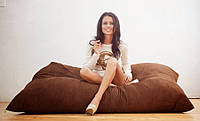 Кресло-мешок, кресло-мат, подушка Микро-рогожка 140*180см. C дополнительным чехлом, фото 1