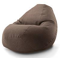 Большое овальное кресло-мешок, груша Микро-рогожка 90*130 см. С дополнительным чехлом, фото 1