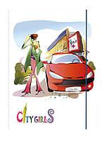 Папка А4 на резинке LEO City girls L6010