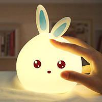 Детский ночник силиконовый Кролик Rabbit Led Sleep Lamp, фото 1