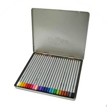 Карандаши цветные 24цв. MARCO Raffine в металлическом пенале 7100-24TN