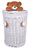 Плетеная корзина для игрушек с плюшевым мишкой 75 л