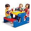 Столик для пикника синий Little Tikes