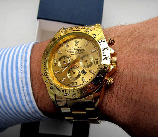 Кварцевые мужские часы Rolex Daytona золото, магазин мужских часов, ... e4adfcbf3ce
