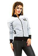 Спортивная куртка двухцветная с пандой из пайетки