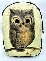 Джинсовый рюкзак Сова