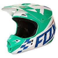 Мотошлем Fox V1 Sayak ECE [GRN] синий-зеленый, XL, фото 1