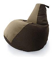 Кресло-мешок груша Комби. Микро-рогожка 85*105 см. С дополнительным чехлом, фото 1