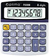 Калькулятор OPTIMA 8 разрядов 120*105*26мм 75508