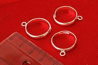 Основа для бижутерии Margo перстни 3шт 8*3мм Серебро