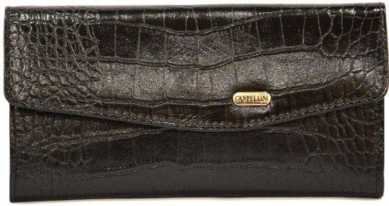 Кошелек кожаный Canpellini 2029-2 Кроко черный