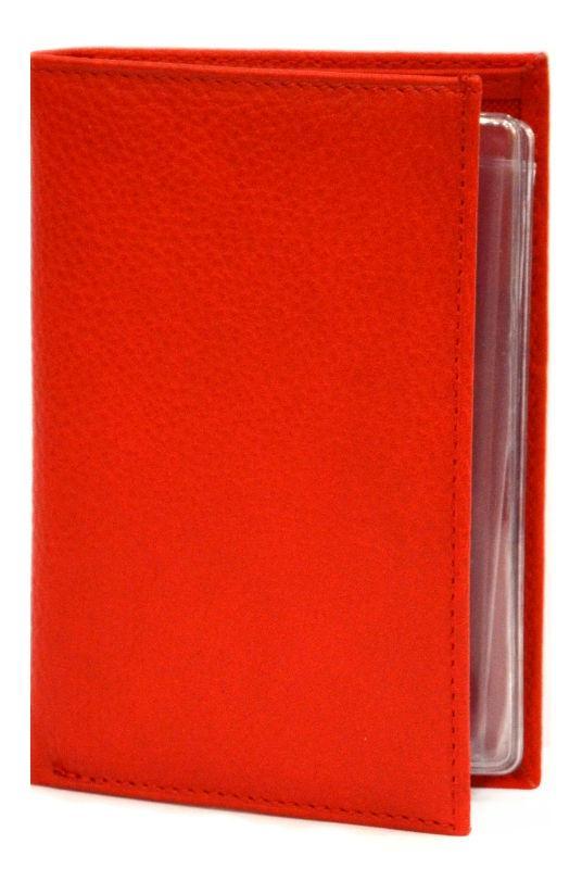 Обложка кожаная для автодокументов Canpellini 22222-172 Ролекс красный