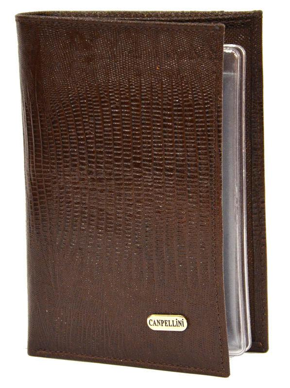 Обложка кожаная для автодокументов Canpellini 22222-143 Лазер коричневый