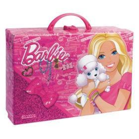 Портфель 310*220*95мм StarPak Barbie картон пустой с застёжкой 210218