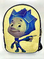 Детский джинсовый рюкзак Фиксик 2, фото 1