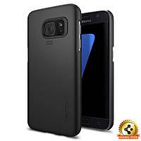 Чехол Spigen для Samsung S7 Thin Fit, Black, фото 1