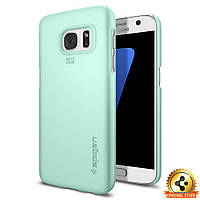 Чехол Spigen для Samsung S7 Thin Fit, Mint, фото 1