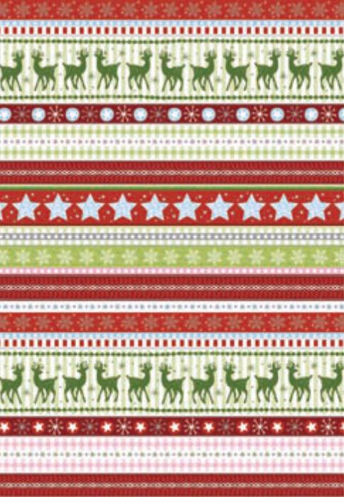 Бумага для скрапбукинга  Heyda А4 300г/м2 9451824 Новогодние бордюры, Красная