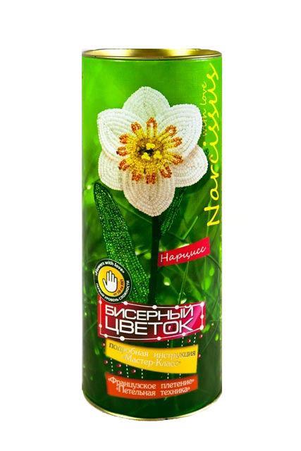 Набор для творчества DankoToys DT БЦ-03 бисерный цветок Нарцисс