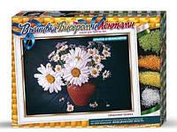 Набор для творчества DankoToys DT В-БЛ-01 вышивка бисером и лентами Ромашки