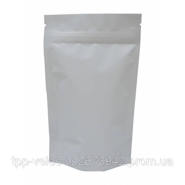 Пакет Дой-пак Белый с клапаном и застежкой 130*200 (32+32)