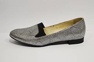 Туфли женские серебристые Vanilla 1200, фото 3