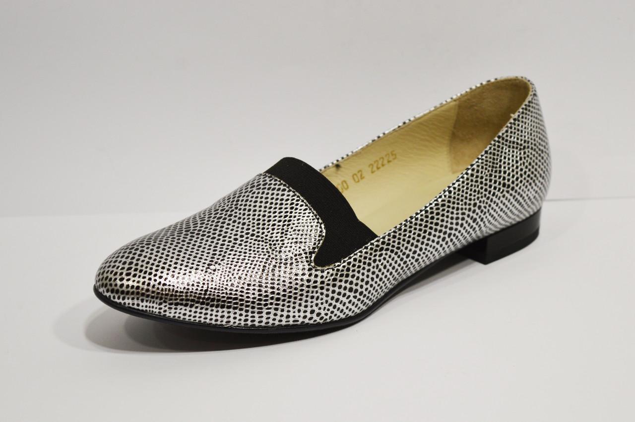 Туфли женские серебристые Vanilla 1200