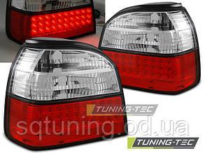 Задние фонари VW GOLF 3 09.91-08.97 RED WHITE LED