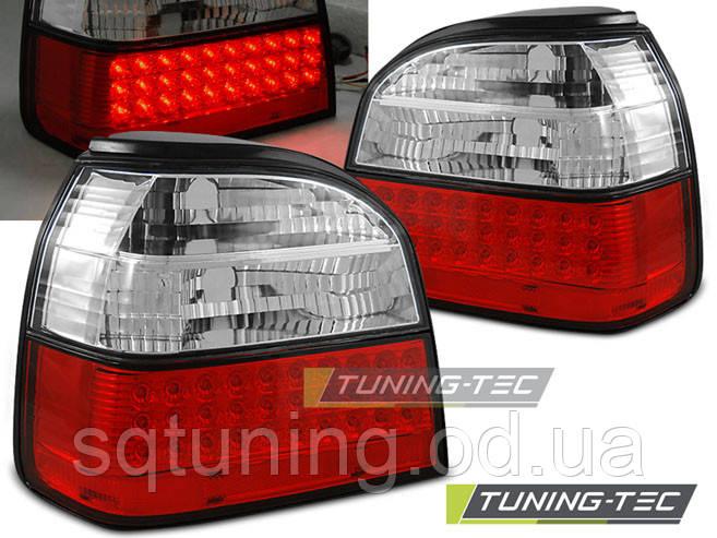 Задние фонари VW GOLF 4 CABRIO RED WHITE LED