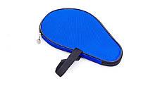 Чехол на ракетку для настольного тенниса MT-2715 (полиэстер, синий, р-р 28х19см)