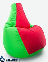Кресло-мешок груша Комби. Оксфорд 300 D 85*105 см. С дополнительным чехлом, фото 1