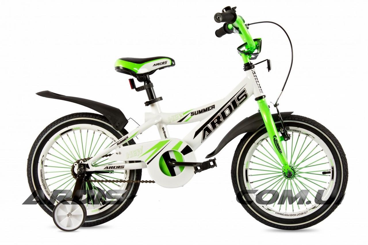 """Дитячий велосипед Ardis SUMMER R16"""" (Біло-салатовий)"""