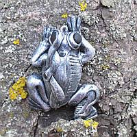 Брелок на ключі (сумку рюкзак) механічна жаба Подарунок в стилі стімпанк Ручна робота, фото 1