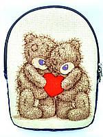 Детский джинсовый рюкзак Мишки Тедди, фото 1