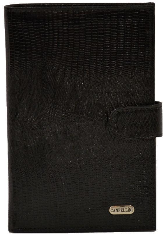 Кошелек кожаный Canpellini 417-8 Лазер чёрный