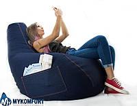 """Кресло-мешок, груша """"Джинс"""" 100*140 см, фото 1"""