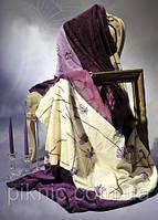 Плед покрывало Фиолет микро фибра полуторный ELWAY. Польша.