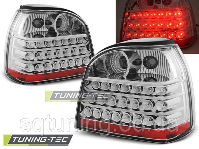 Задні ліхтарі VW GOLF 3 09.91-08.97 CHROME LED