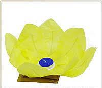 Светящиеся водяные лилии (фонарики) д.30 см желтые