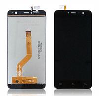 Оригинальный дисплей (модуль) + тачскрин (сенсор) для Cubot Note Plus (черный цвет)