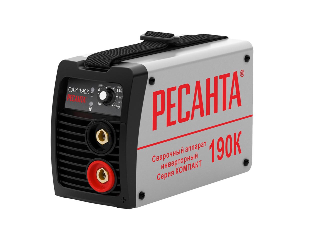 Сварочный аппарат инверторный Ресанта САИ 190 К (компакт)