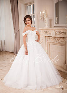 Свадебное платье 2018 . Пышная юбка с бретелями , 3d кружево