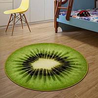 Круглый 3D коврик, 80 см. киви