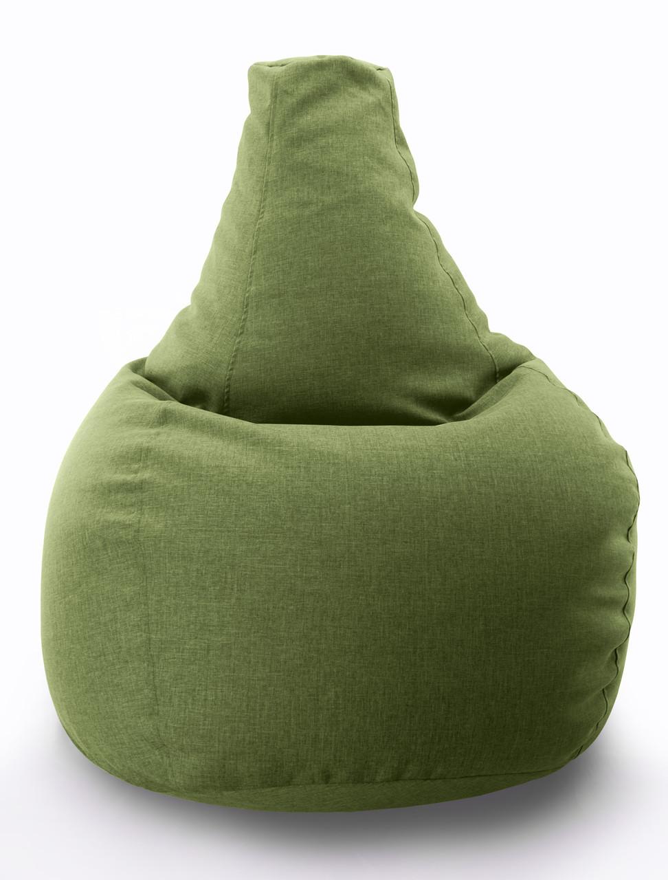 Велике крісло-мішок, груша Мікро-рогожка 90*130 див. З додатковим чохлом