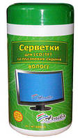 Салфетки для оргтехники+TFT и LCD Арника в банке 100шт 30661